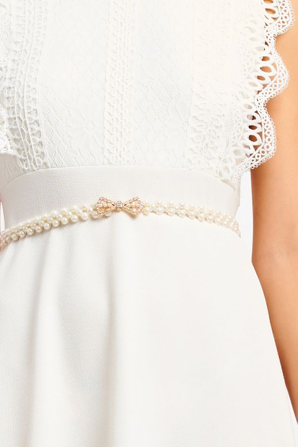 RIBBON PEARL ELASTIC BELT