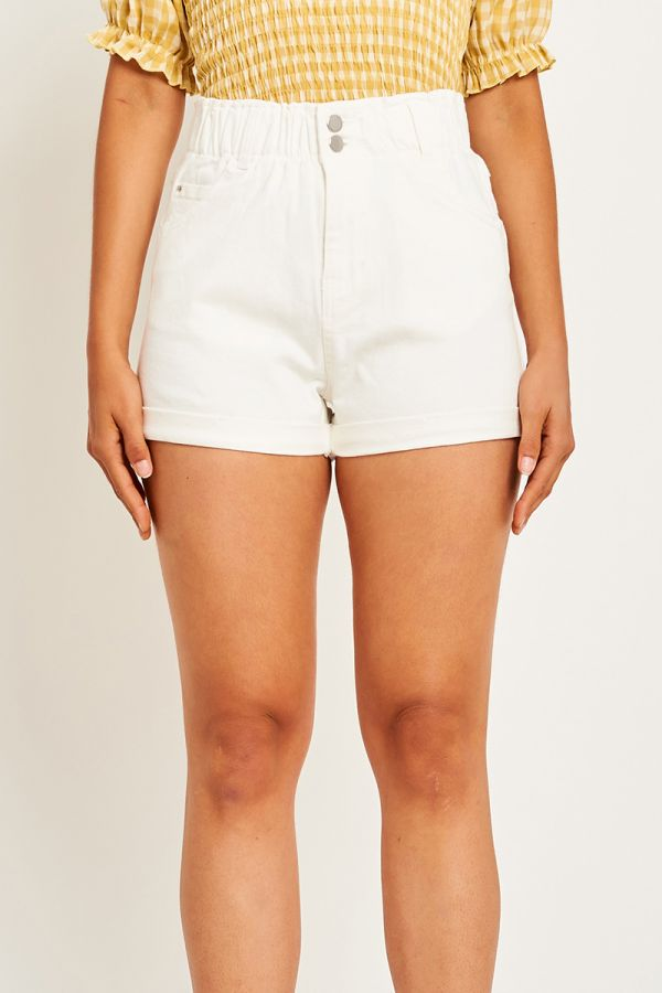 CHERRY HIGH WAISTED DENIM SHORTS (323372)