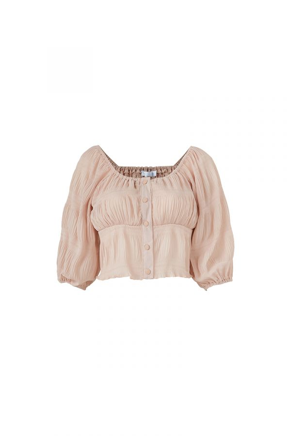LOLITA SMOCKED PEASANT TOP (323373)