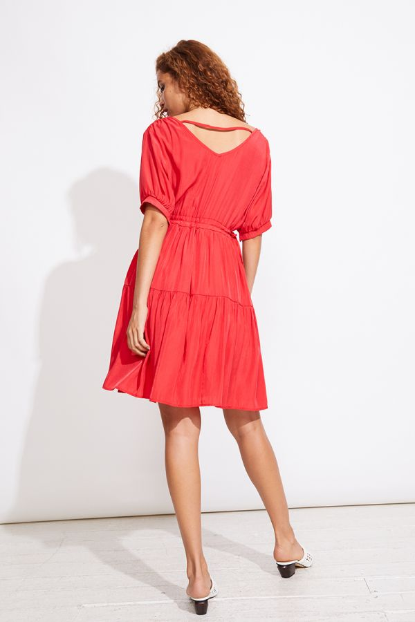 MARINA TIE FRONT DRESS