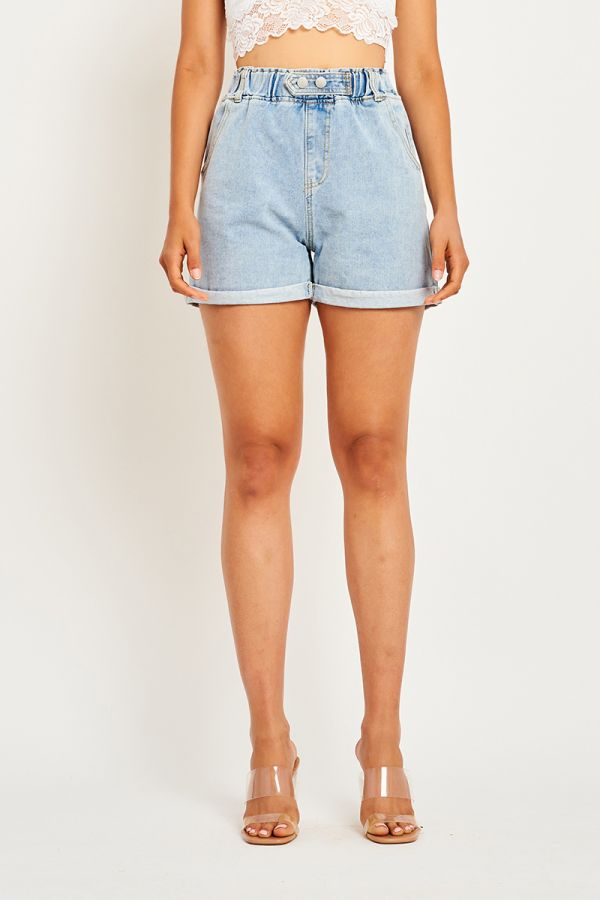 LYDIA HIGH WAISTED DENIM SHORT (323494)