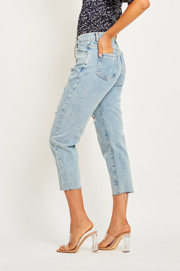 LEXI DISTRESS DENIM PANTS