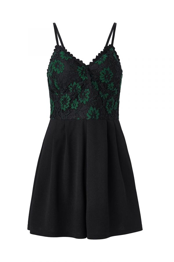 HAILEY LACE TOP PLAYSUIT (323501)