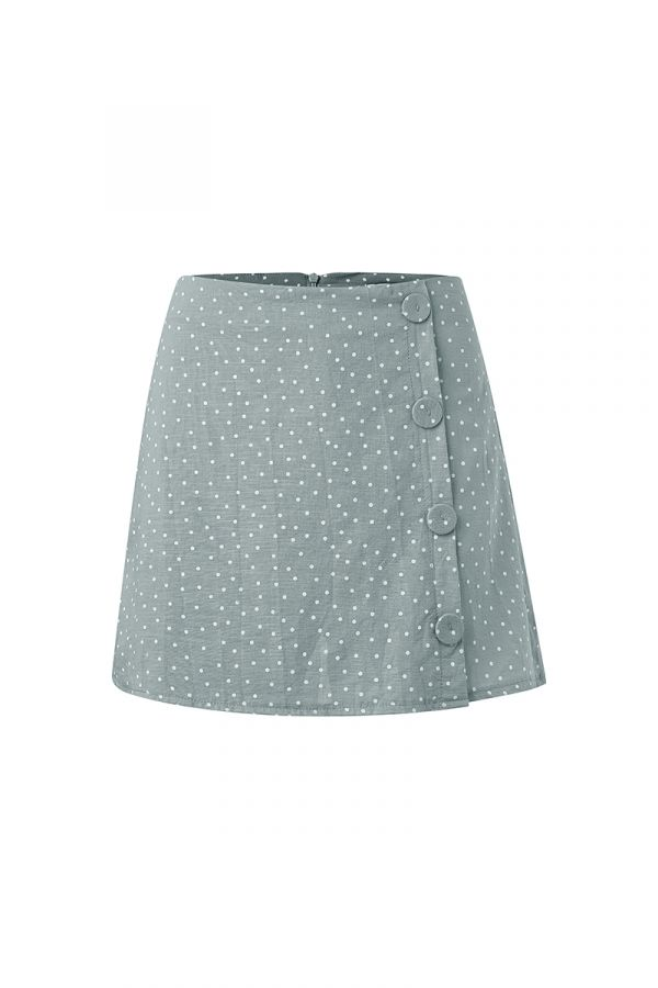 ANITA BUTTON DETAIL SKIRT
