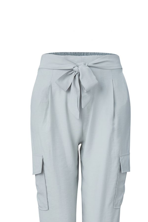 CLIVE TIE WAIST SIDE POCKET DETAIL PANTS (323585)