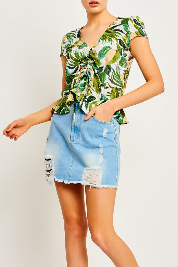 MIAMI RUCHED FRONT TOP (323595)