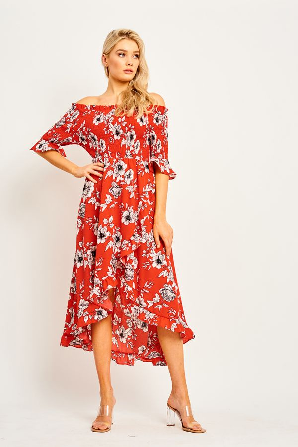 BOGOTA OFF SHOULDER DRESS (323683)