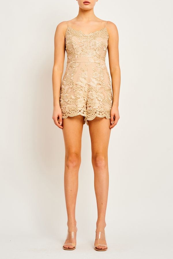 SOPHIA GOLD PLAYSUIT (323775)