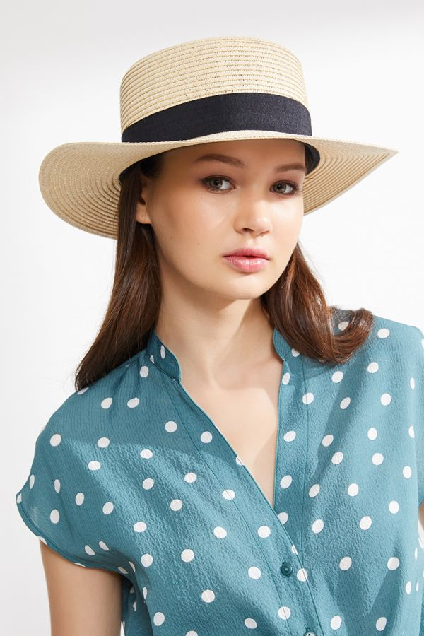 BETTY BOATER STRAW HAT