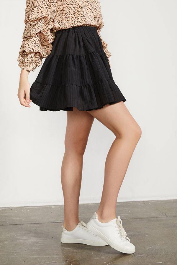NAOMI TIERED MINI SKIRT (323915)