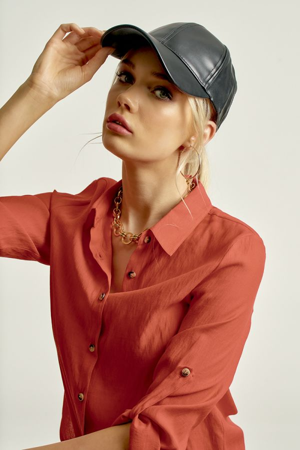 FAUX LEATHER CAP (324088)