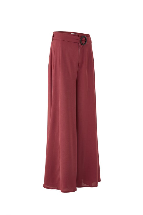CLARETTE WIDE LEG PANTS WITH BELT (324098)