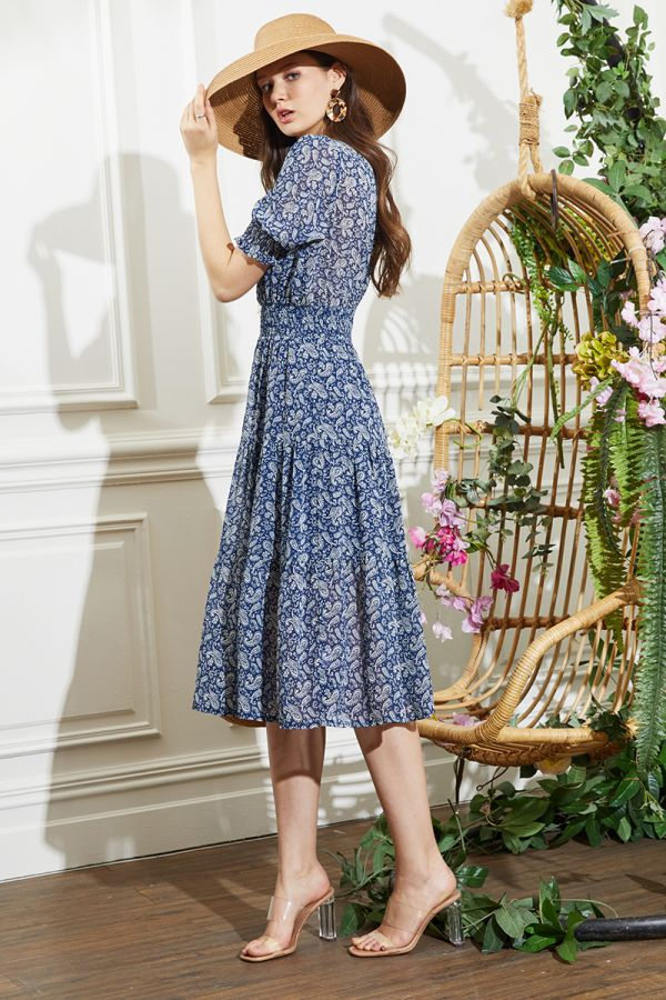 XIOLI PUFFY SLEEVE DRESS (324110)