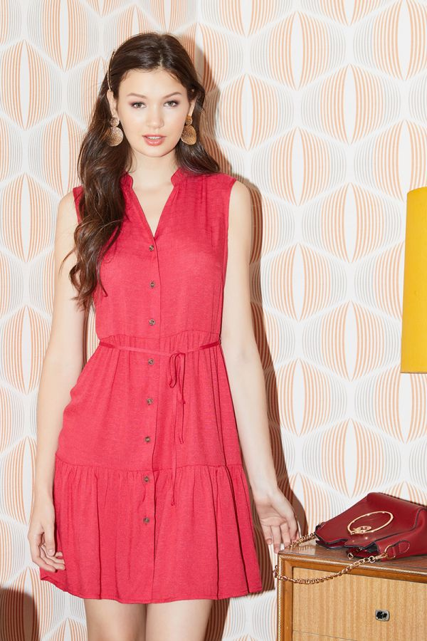 SUMMER SLEEVELESS DRESS (324114)