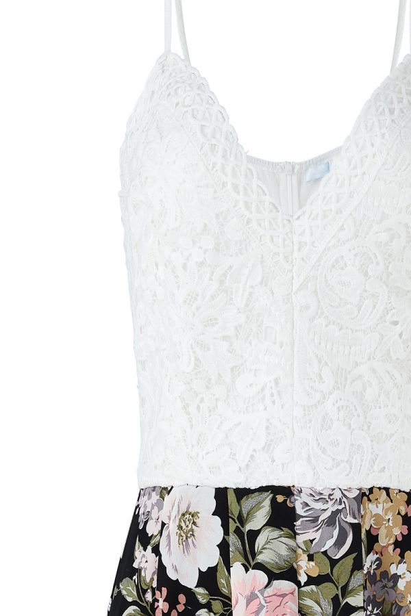 WILLOW LACE TOP PLAYSUIT (324331)