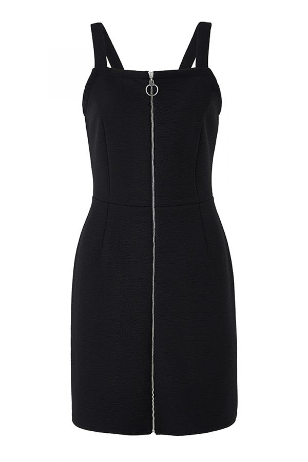 ARIES ZIP FRONT BODYCON DRESS (324335)