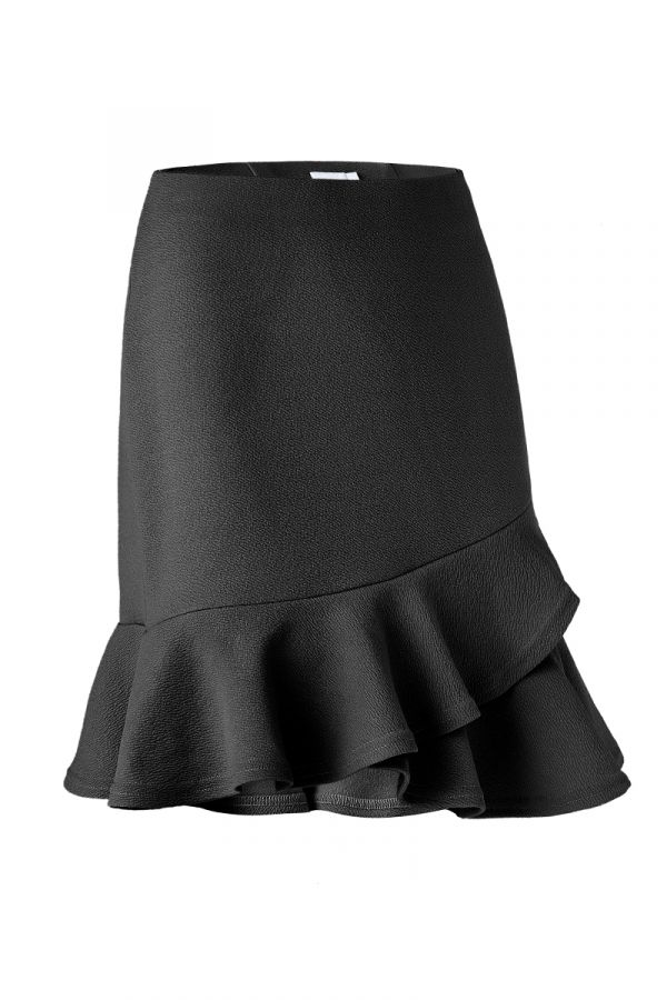 ANGELICA RUFFLE HEM MINI SKIRT (324406)