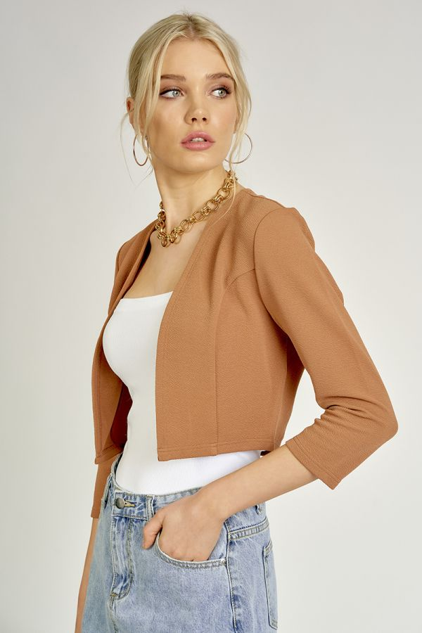 BASIC CROPPED CARDIGAN  (324464)