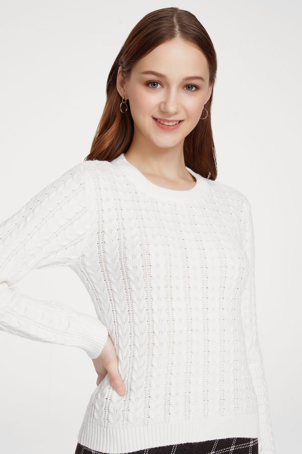 CABLE KNIT TOP (324534)