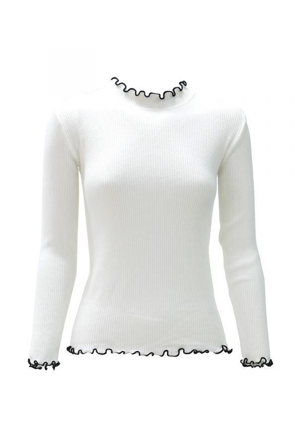 FRILL EDGE KNIT TOP (324541)