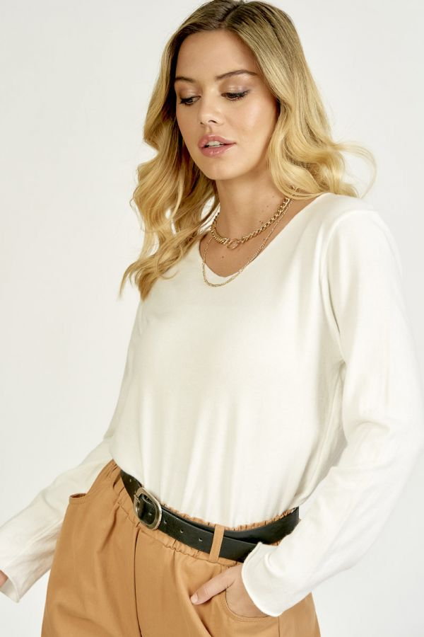 V-NECK KNIT TOP (324561)