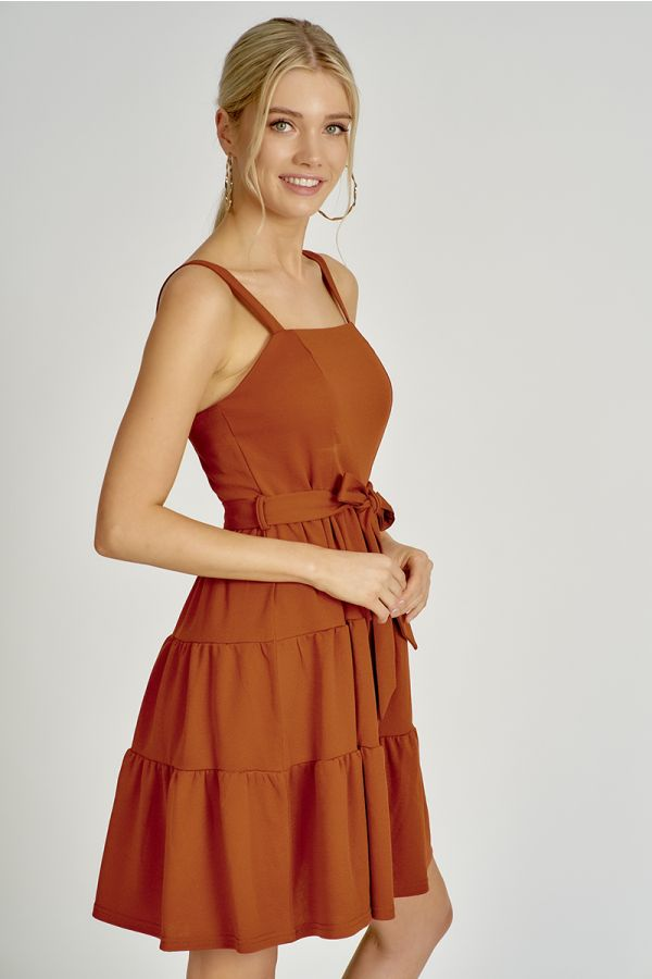 TIERED FIT & FLARE DRESS (324627)
