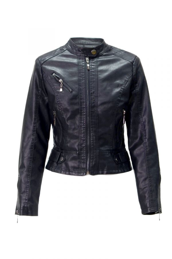 ZIPPER DETAIL RIDER JACKET (324678)
