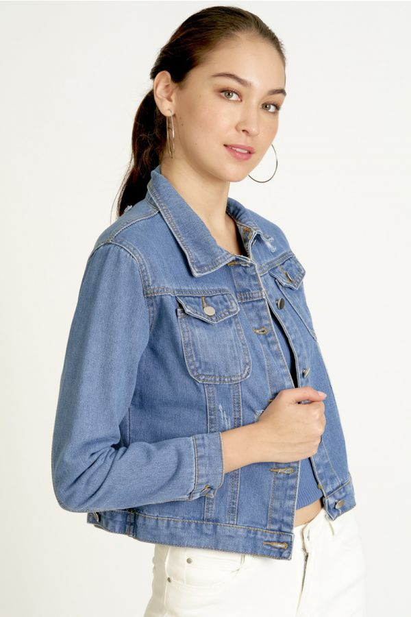NORMAL LENGTH DENIM JACKET (324732)