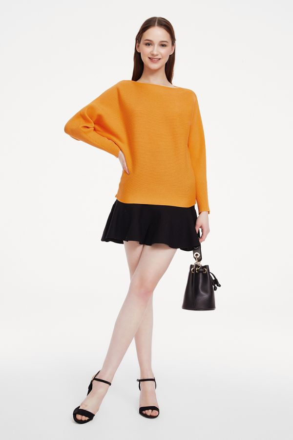 BATWING RIB KNIT TOP (324745)