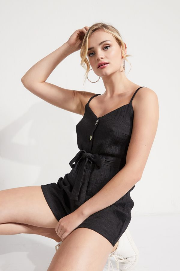 SHELL BUTTON SINGLET PLAYSUIT (324771)