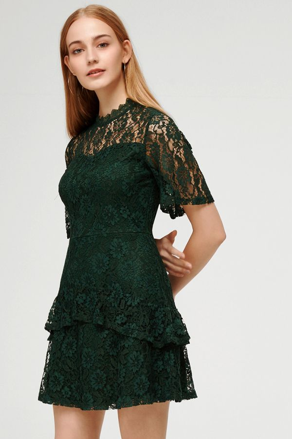 MON CHERIE LACE MINI DRESS (324777)