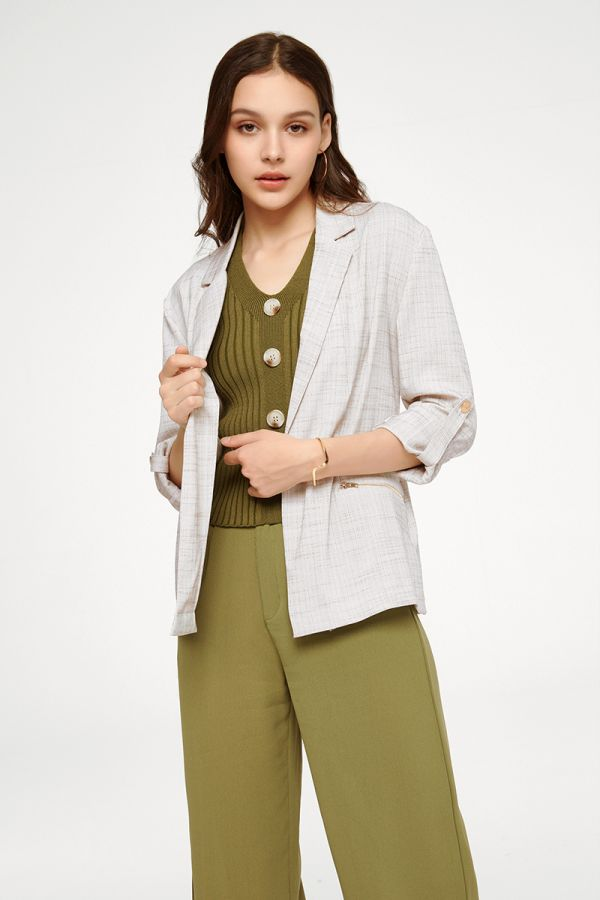 AURA ZIP POCKET JACKET (324811)