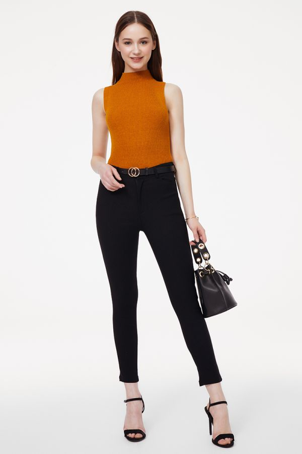 BELTED PANTS  (324815)