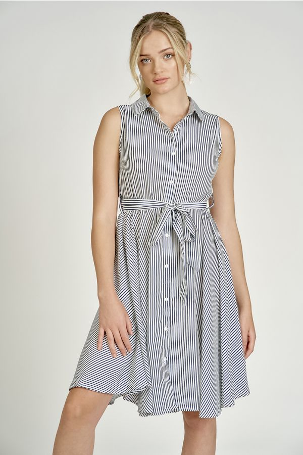 SLEEVELESS SHIRT DRESS  (324826)