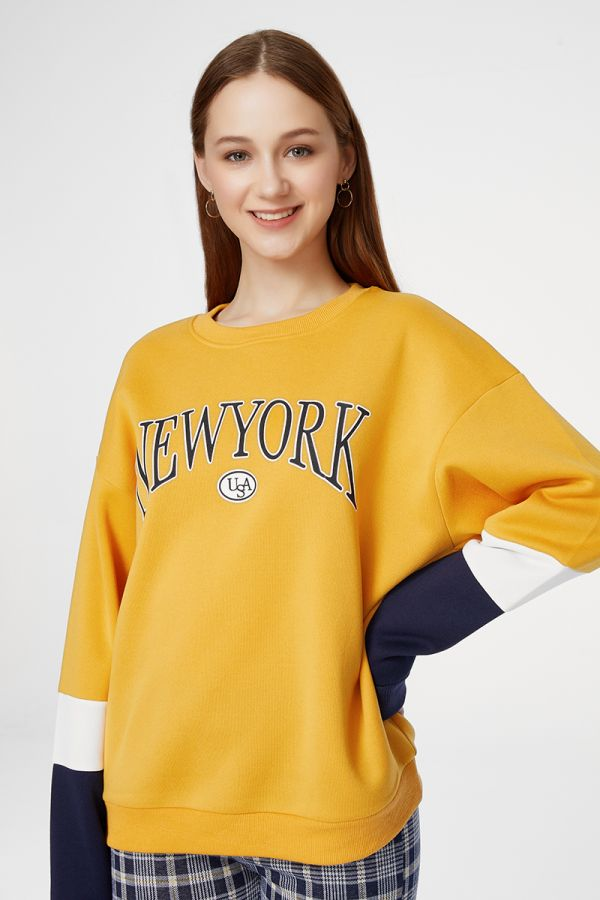 NEW YORK FLEECE LINING TOP (324894)