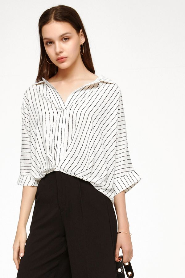STEPH COLLARED TOP (324897)