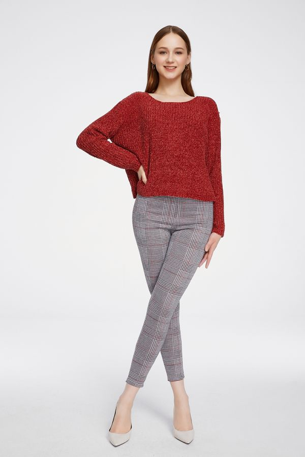 CHENILLE BASIC KNIT TOP (324910)