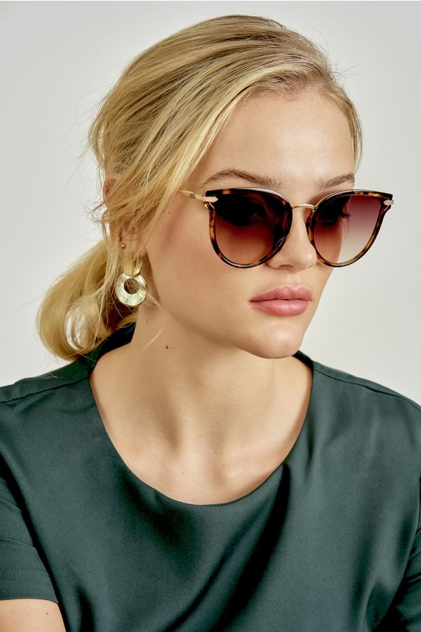 EVE TORTOISE SHELL SUNGLASSES (324937)