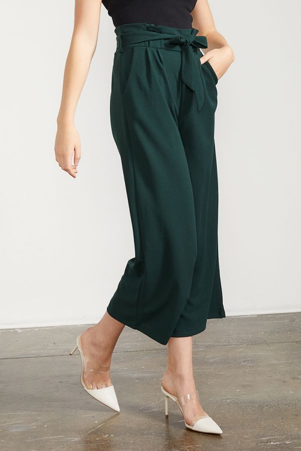 BELTED WIDE PANTS  (324959)
