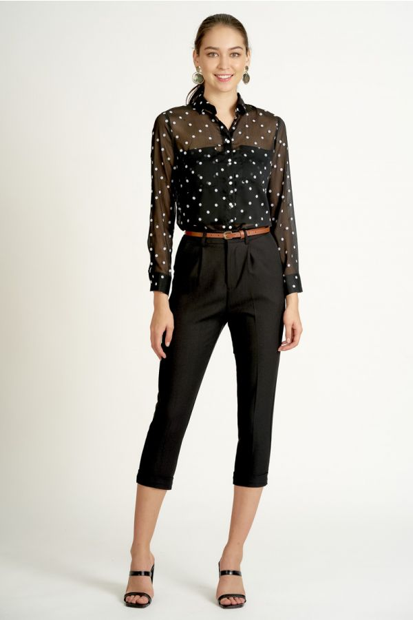 BELTED DRESSY PANTS (324964)