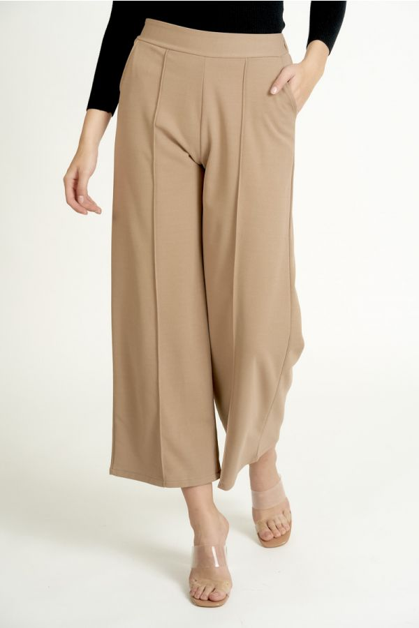 PIN-TUCK WIDE PANTS (324968)
