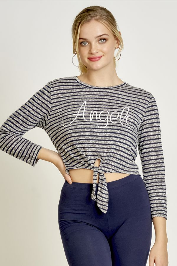 STRIPE TIE-UP TOP (324980)
