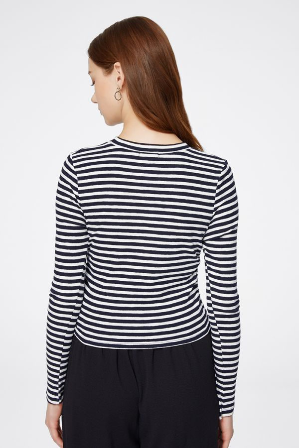 SIDE TIE-UP STRIPE TOP (325028)
