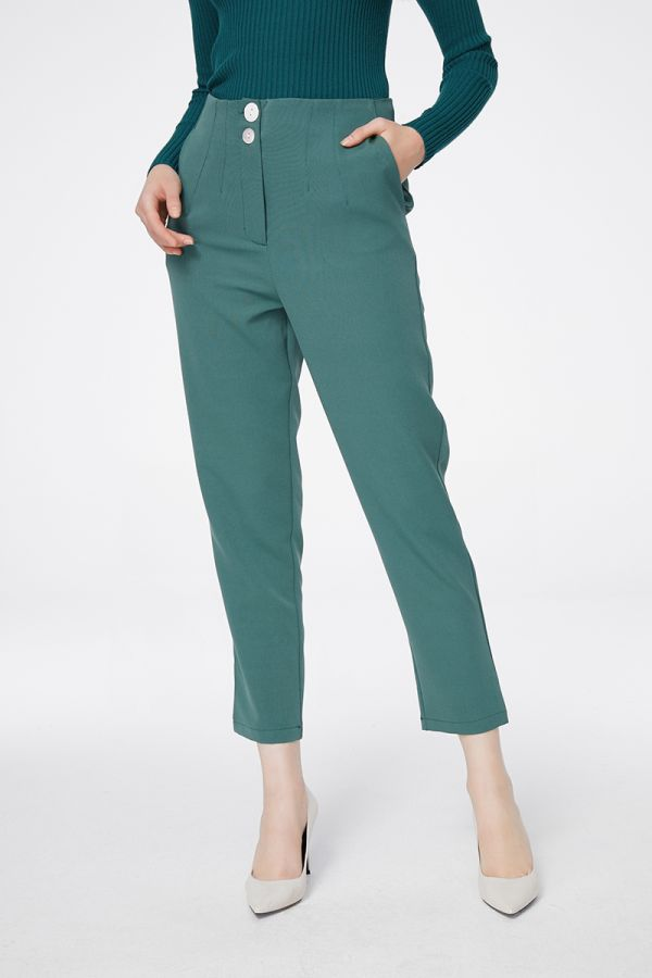 HIGH WAIST PEG PANTS (325221)