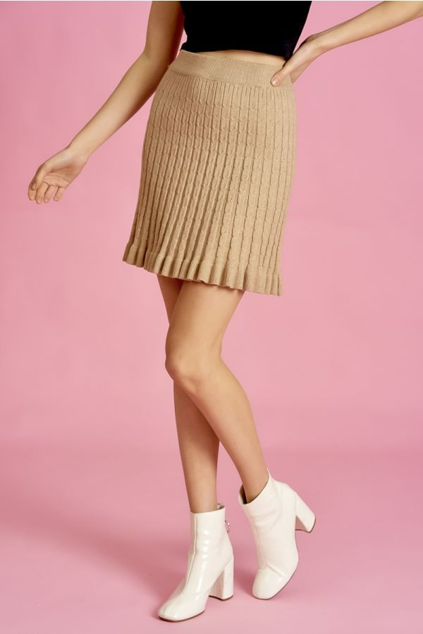 CABLE PATTERN MINI SKIRT (325241)