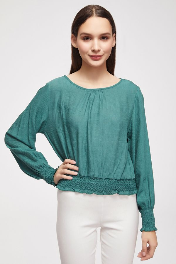 SMOCKING DETAIL TOP (325245)