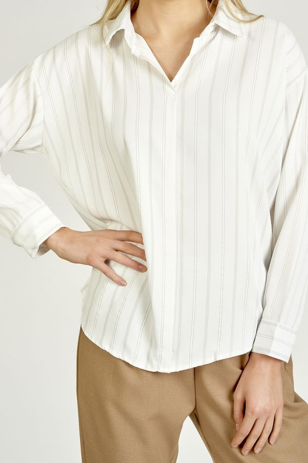 STRIPE OVERSIZED SHIRTS (325275)