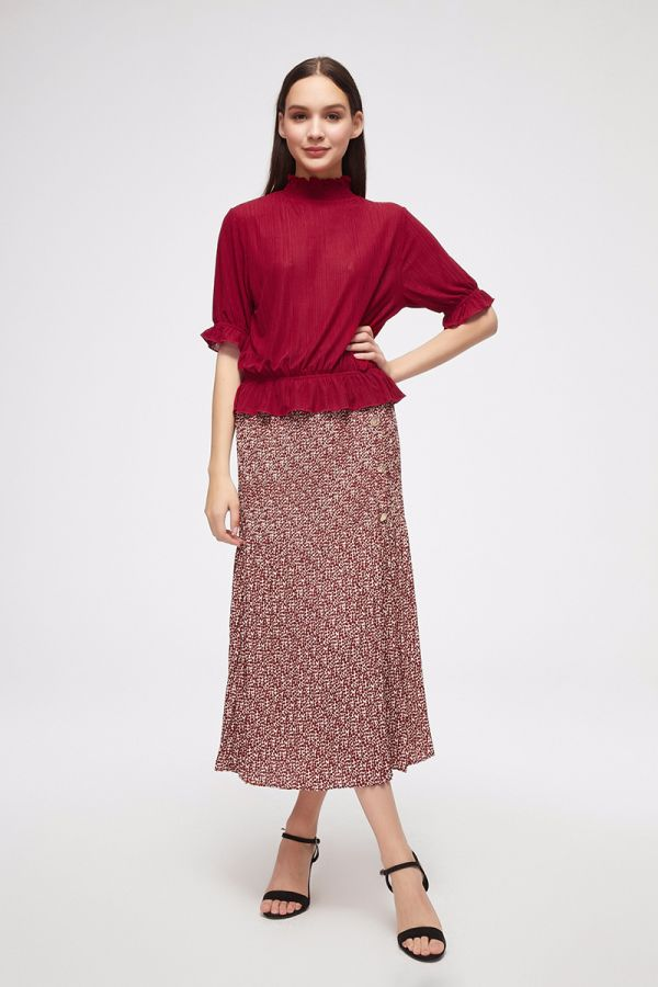 HIGH SMOCKING NECK TOP (325348)