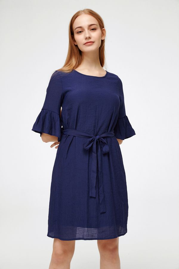 FLAMINGO FLOUNCE SLEEVE DRESS (325350)
