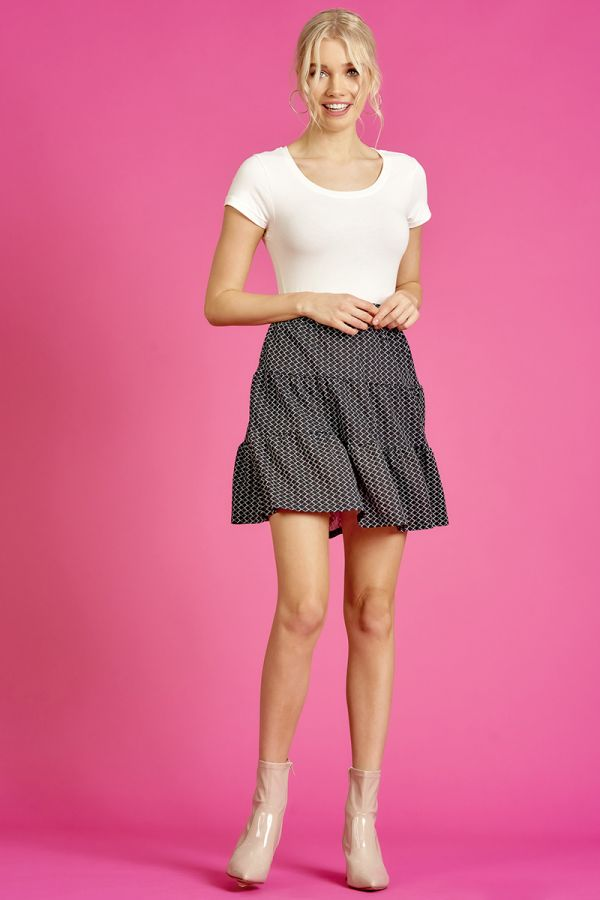 TIERED MINI SKIRT  (325375)